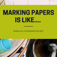 Marking is like washing the Dishes